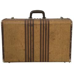 1940s Wicker Hard Sided Suitcase