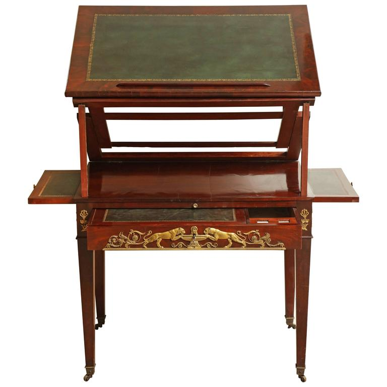 Early 19th Century French Empire Architects Desk For Sale - Early 19th Century French Empire Architects Desk For Sale At 1stdibs