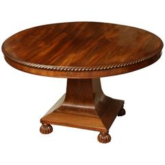 Exceptional, English Regency, Mahogany Center Table