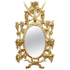 Early 19th Century Irish, Carved and Gilded Mirror