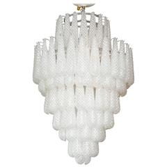 Gorgeous Murano Honeycomb Glass Pendant Chandelier