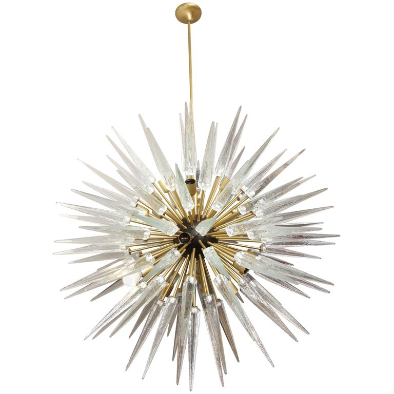 Stunning Murano Glass Spike Sputnik Chandelier