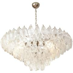 Murano Polyhedral Chandelier in the Manner of Venini