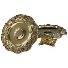 Antique 19th Century, American Tiffany & Co Solid Silver Chrysanthemum Tazzas