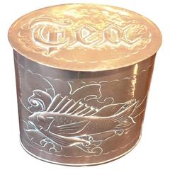 Copper Repousse Tea Caddy by Herbert Dyer of Mousehole