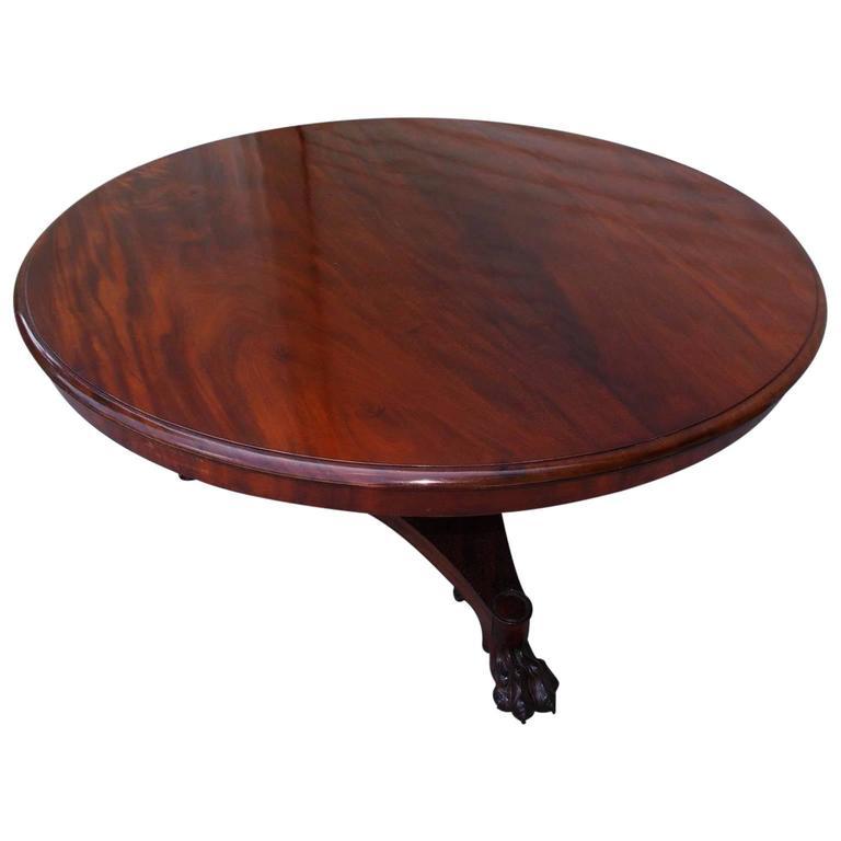 English Regency Mahogany Tilt-Top Center Table, Circa 1815