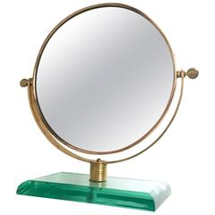 Wonderful Vanity Mirror by Gio Ponti Attributed to Fontana Arte, 1930s-1940s