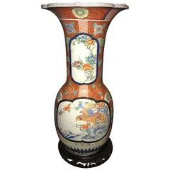 19th Century Signed Monumental Imari Vase