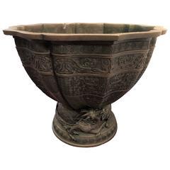 "19th Century Japanese ""Good Luck"" Dragon Bowl"