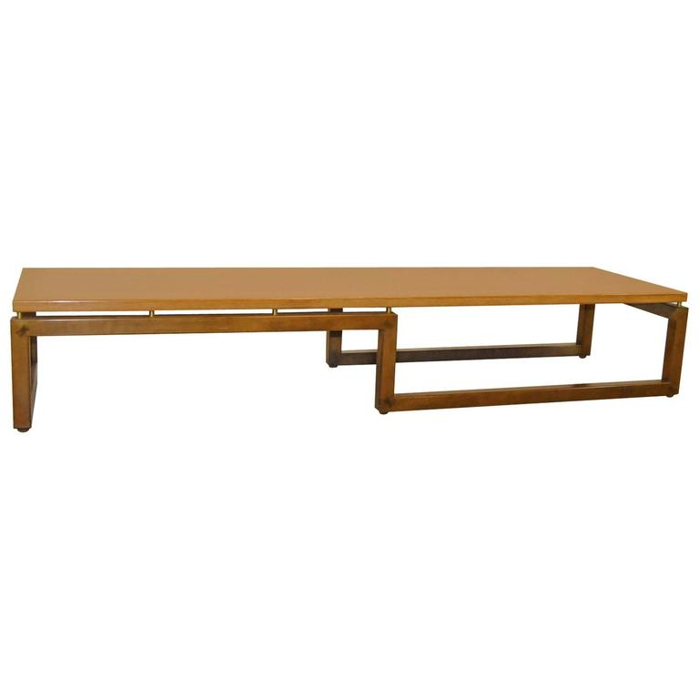 Baker Furniture Teak Coffee Table/Bench By Michael Taylor