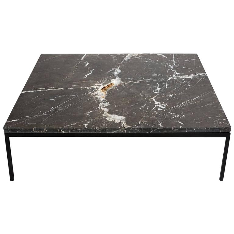 Found Coffee Table In Black Marble And Steel For