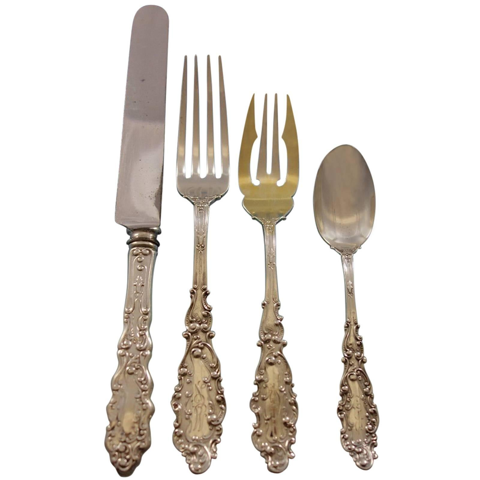Luxembourg by Gorham Sterling Silver Flatware Set 12 Service 80 Pcs Dinner