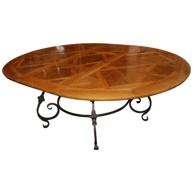 Fabulous Parquet De Versailles Oval Dining Table