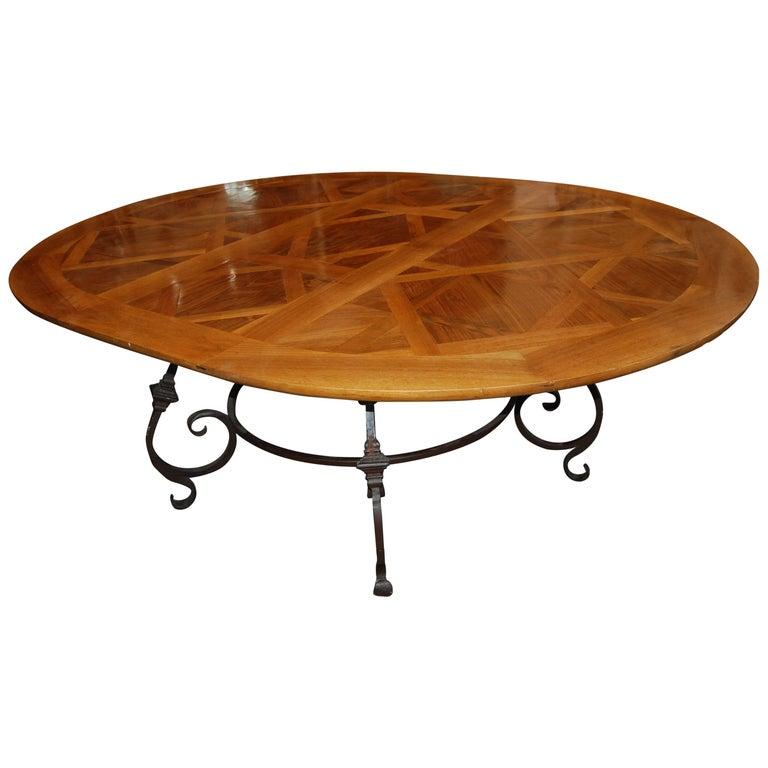 Fabulous Parquet De Versailles Oval Dining Table 1