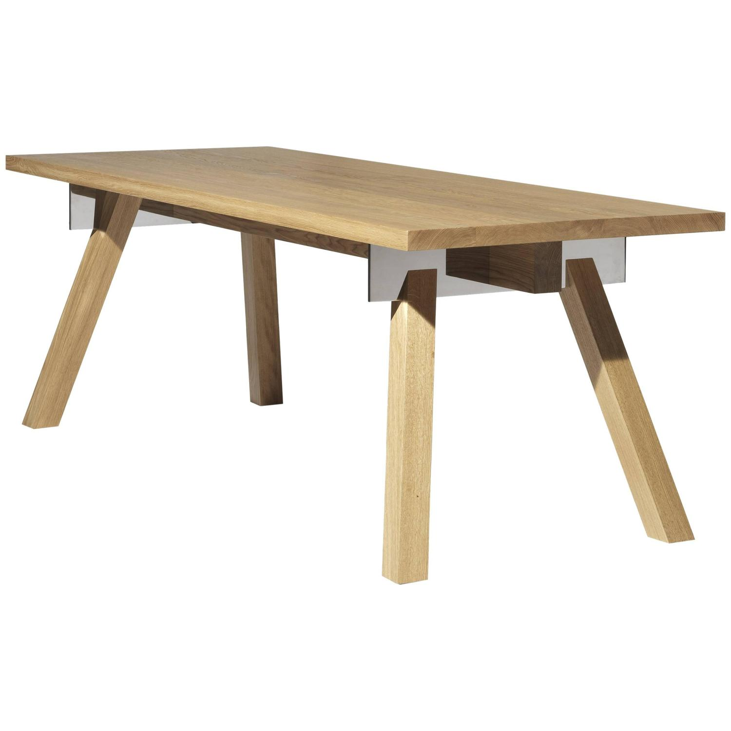U0026quot;Torquemadau0026quot; Table In Brushed Oak Designed By Philippe Starck ...