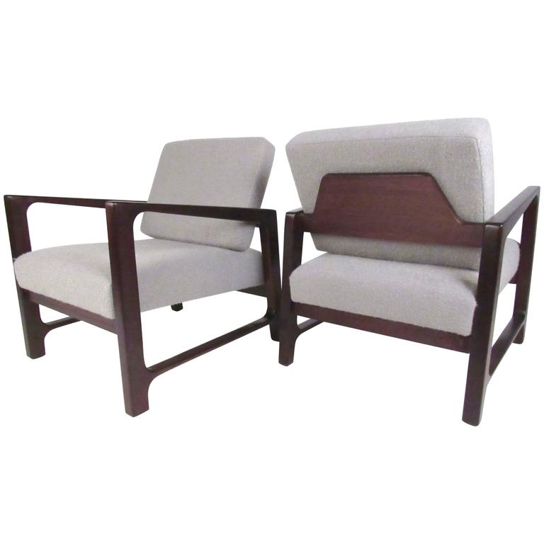 Harvey Probber Lounge Chairs in Rosewood
