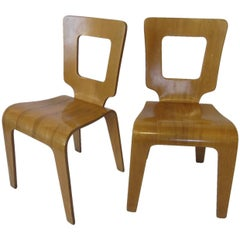Thaden Jordan Eames Styled Molded Plywood Side Chairs