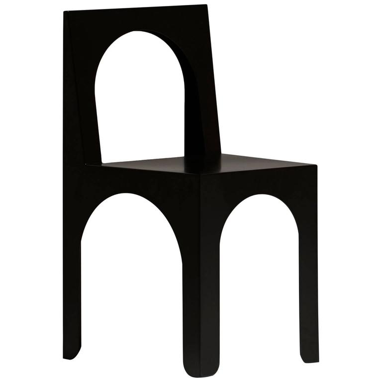 Claudia Child Chair Designed by Arquitectura-G in Black Powder-Coated Steel