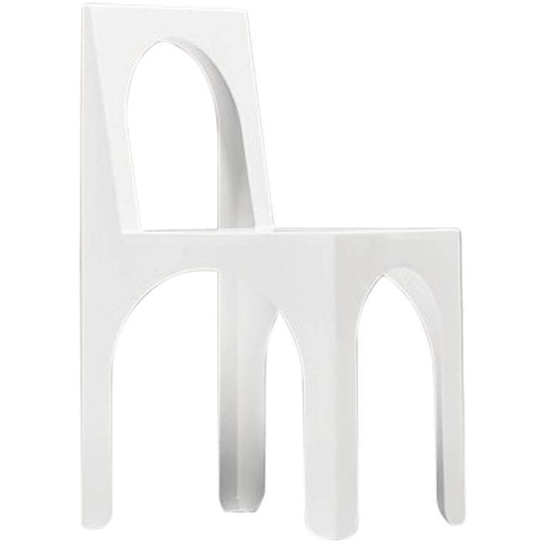 Claudia Child Chair Designed by Arquitectura-G in White Powder-Coated Steel