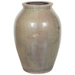 Tall Vintage Chinese Ceramic Wine Jar