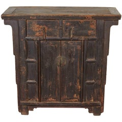 19th Century Two-Drawer Chinese Cabinet, Great Patina