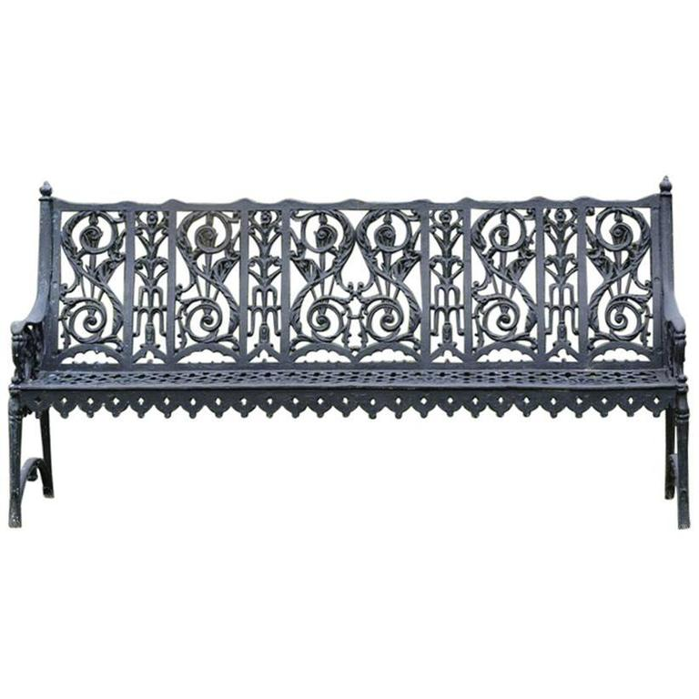 Cast Iron Curtain Style Bench For Sale