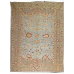 Blue Antique Turkish Oushak Rug