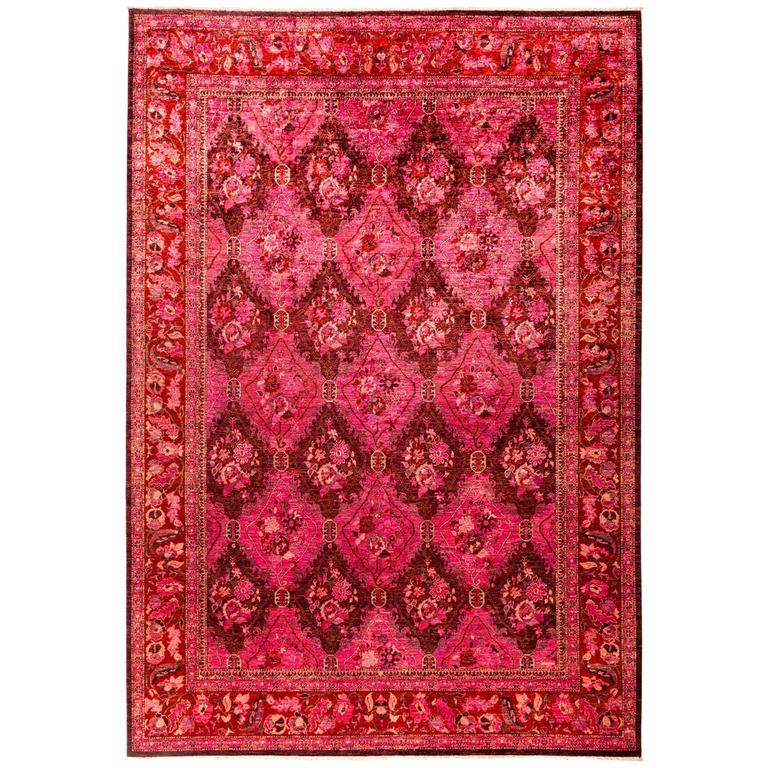 Pink Eclectic Area Rug For Sale At 1stdibs
