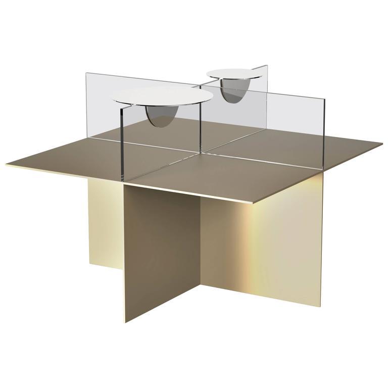 """Francesco Librizzi Driade """"Still Life"""" Square Table Upper Element in Glass, 2017 1"""