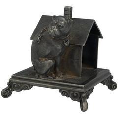 Victorian Figural Bulldog Napkin Holder