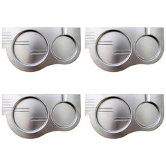 Set of Four Revere Art Deco Ashtrays