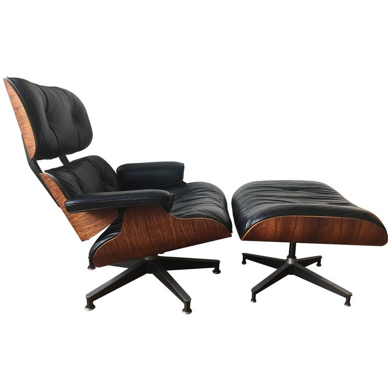 Herman miller eames rosewood lounge chair and ottoman at - Herman miller lounge chair and ottoman ...