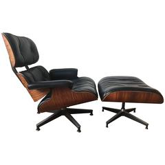 Herman Miller Eames Rosewood Lounge Chair and Ottoman