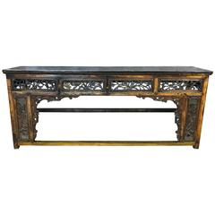 Exquisitely Carved Chinese Qing Dynasty Altar Table