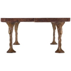 Artist Collaboration Bronze Dining Table by Jean Bilquin for P. Tendercool