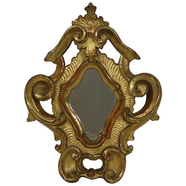 Small 18th century italian giltwood baroque mirror at 1stdibs for Small baroque mirror