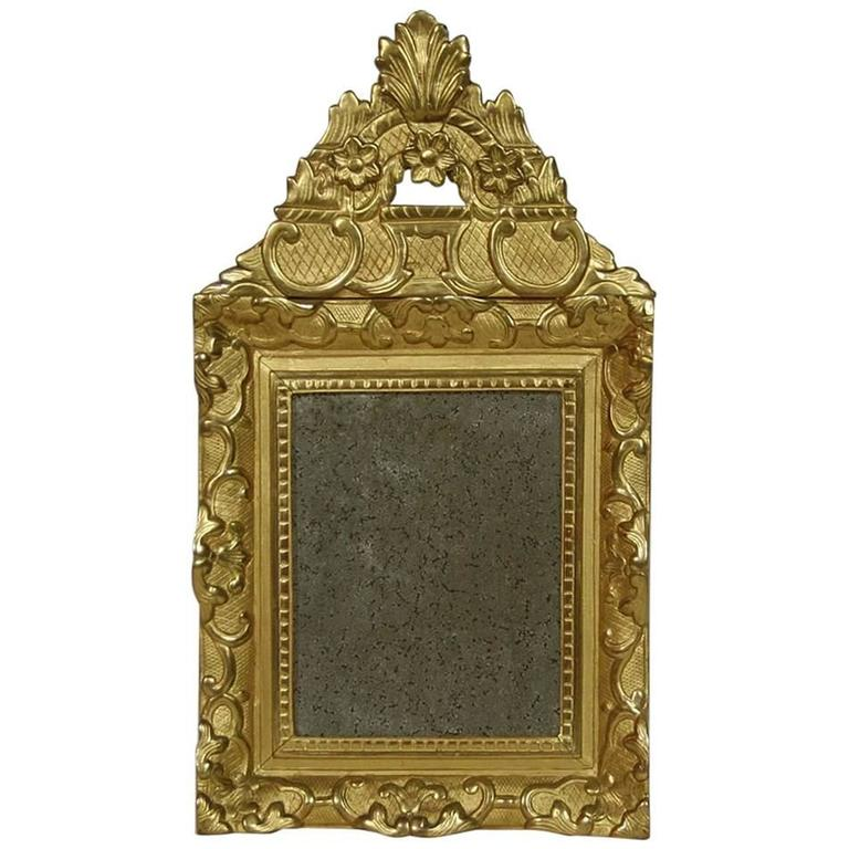19th Century French Louis XV Style Rococo Giltwood Mirror