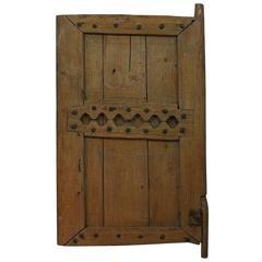 19th Century Primitive Moroccan Wooden Door