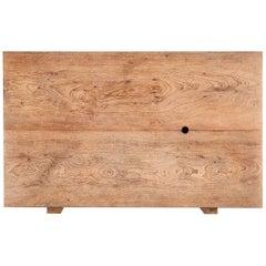 Bespoke Partner Desk with Two Slabs of Antique Hardwood, by P. Tendercool
