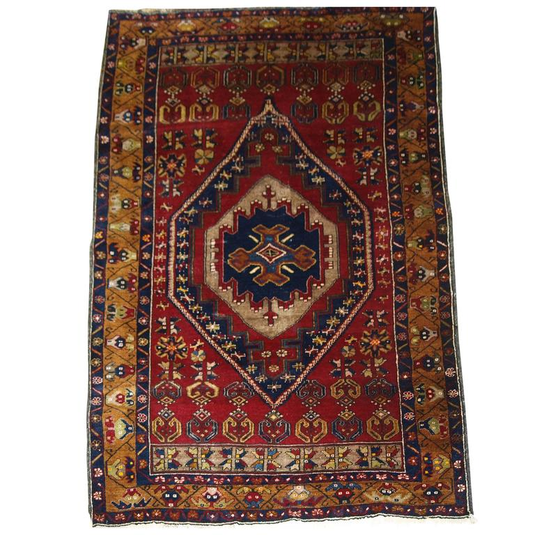 Antique Large Rug: Antique Anatolian Yahyali Rug With Traditional Large