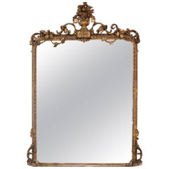 19th Century Gilt and Gesso Overmantel Mirror