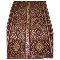 Old Turkish Kars Kilim, of Traditional Village Design