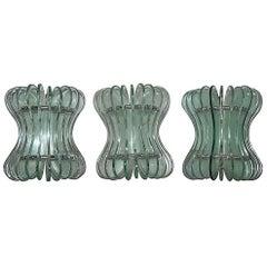 Sconces Cristal Art 1960 Italian Minimal Sculpture Design