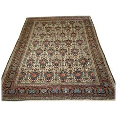 Antique Abedeh Rug with the Classic 'Vase and Peacock' Design, circa 1900-1920