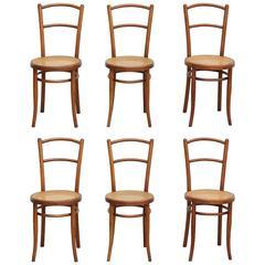 Set of Six J & J. Khon Chair N°220, circa 1900