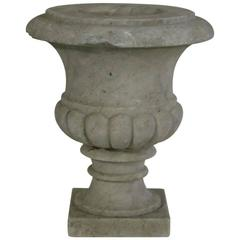 English 19th Century White Marble Garden Urn