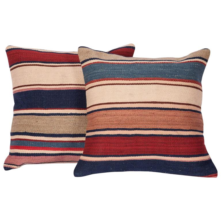 Antique Pillows Made Out of a 19th Century Shasavan Kilim