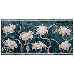 "Ceramic Tiles with ""Le Donne Sui Fiori"" Designed by Gio Ponti"