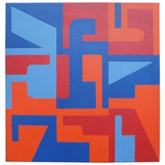 Abstract Painting by Norman Ives, 1969