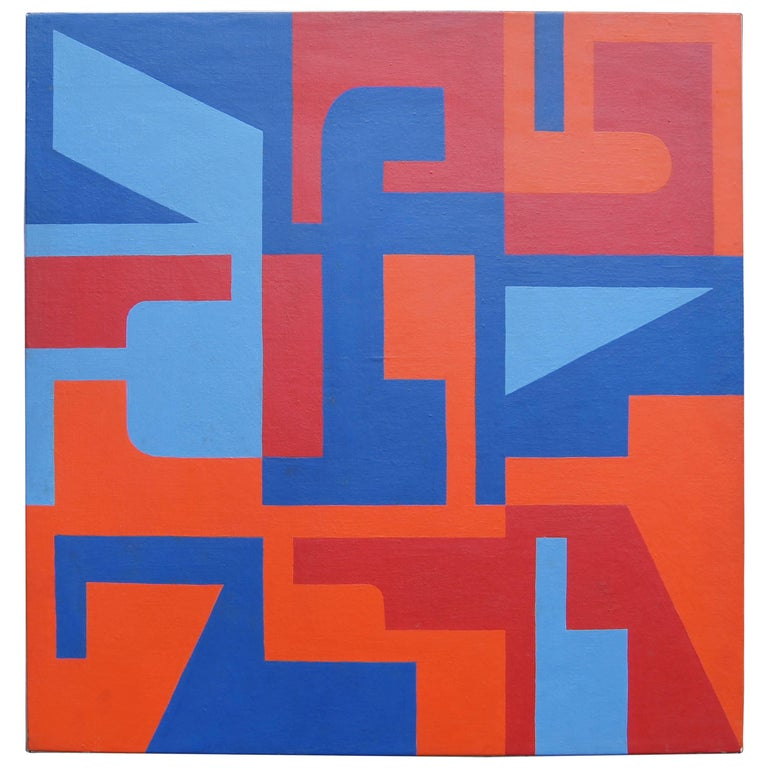 Abstract Painting by Norman Ives, 1969 For Sale
